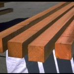 Clear - timber, treated, drying in the sun