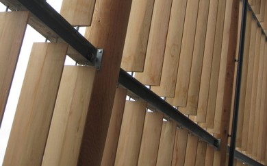 2012 Olympic Velodrome's western red cedar elliptical louvers - feature image