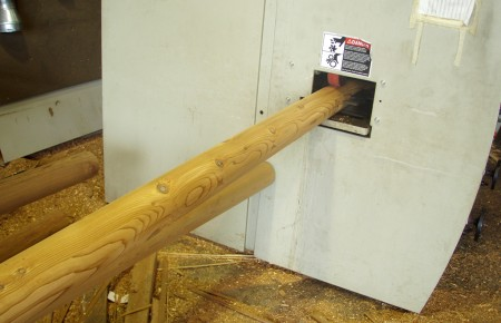 Poles - 5 inch, sawn for stacking