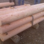 Turned poles - fir poles