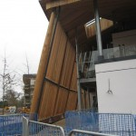 2012 Olympic Velodrome's western red cedar tapered poles and louvers